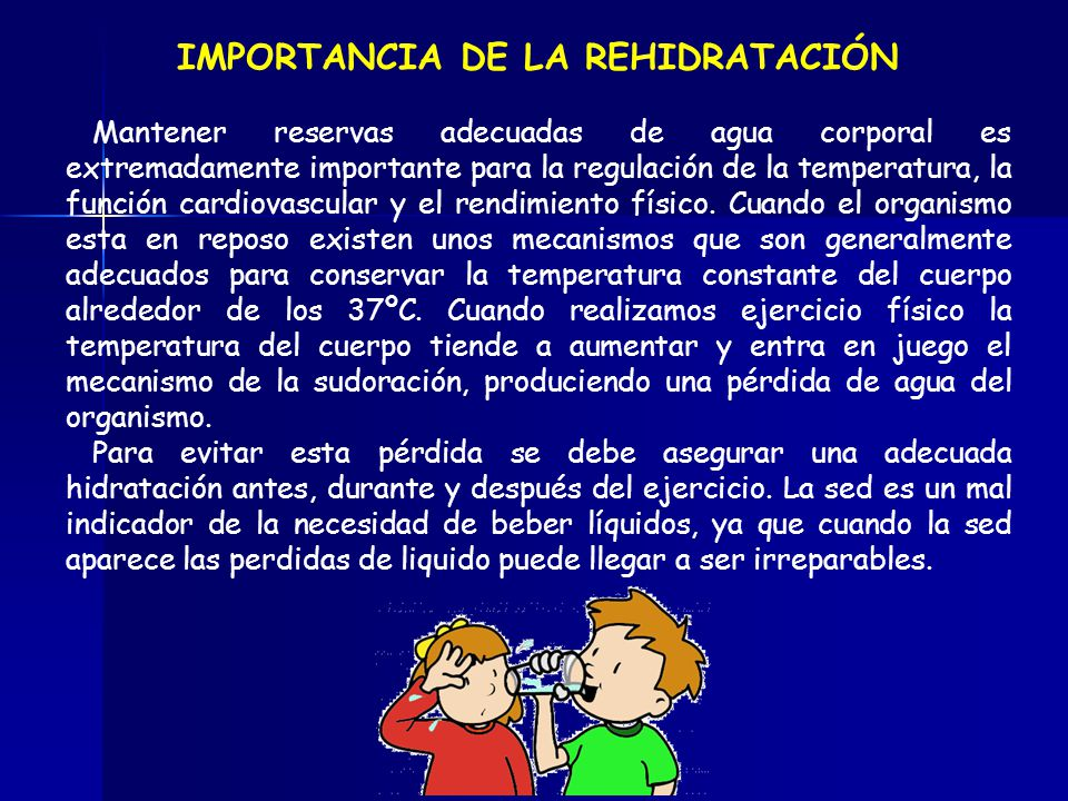 IMPORTANCIA DE LA REHIDRATACIÓN