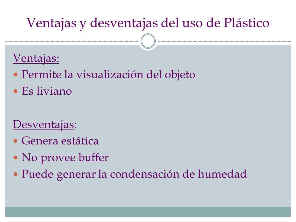 Ventajas y desventajas del uso de Plástico