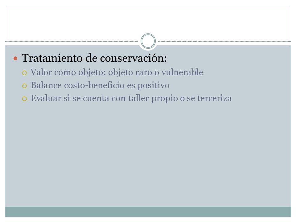 Tratamiento de conservación: