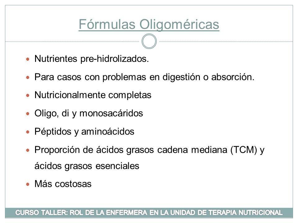 Fórmulas Oligoméricas
