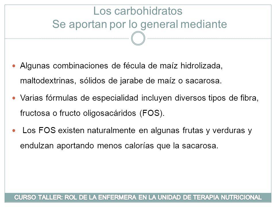 Los carbohidratos Se aportan por lo general mediante