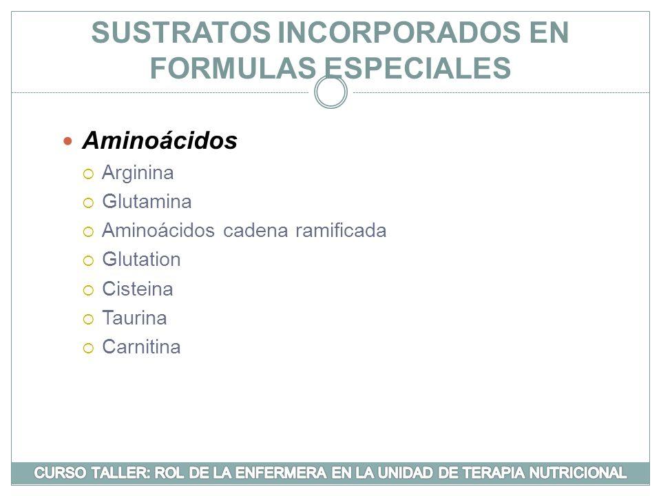 SUSTRATOS INCORPORADOS EN FORMULAS ESPECIALES