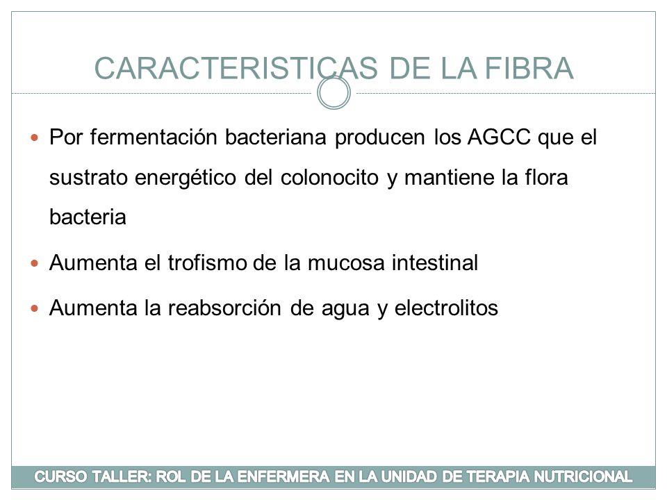 CARACTERISTICAS DE LA FIBRA