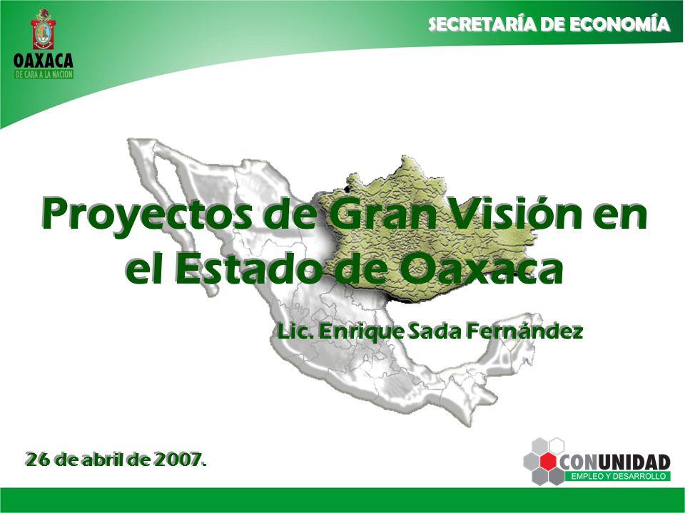 Proyectos de Gran Visión en el Estado de Oaxaca