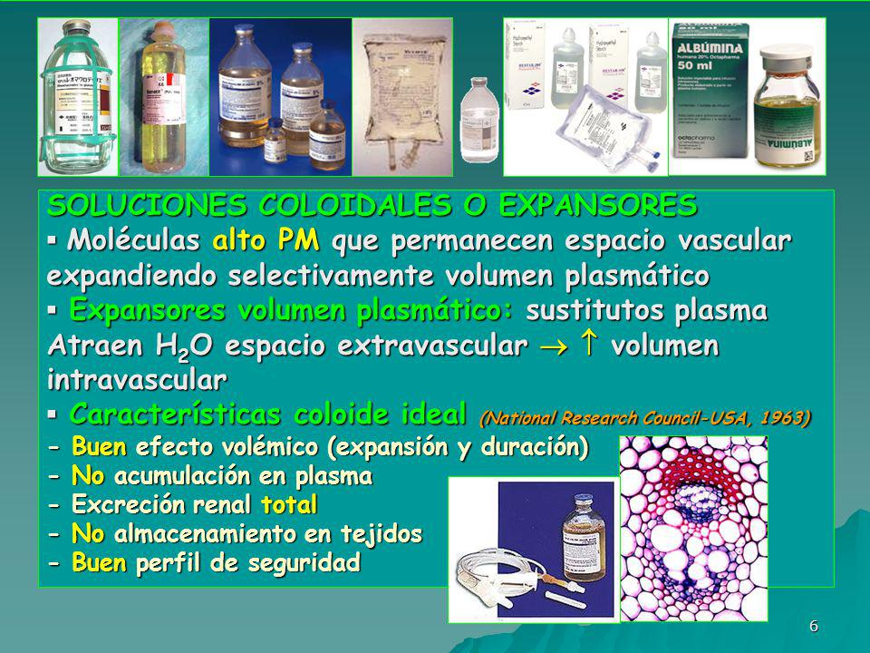 SOLUCIONES COLOIDALES O EXPANSORES