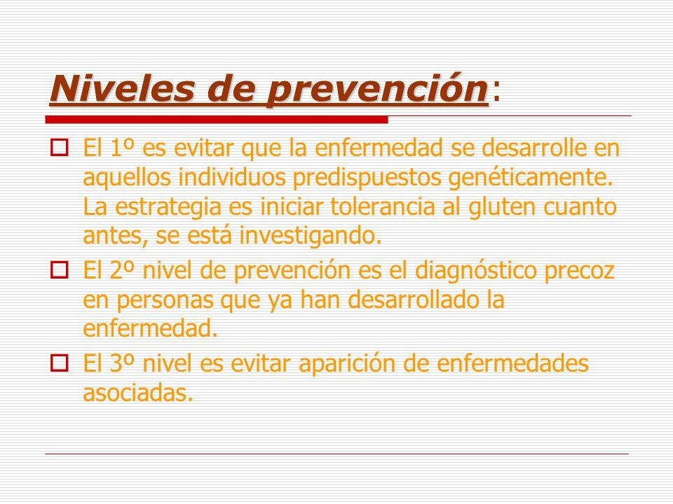 Niveles de prevención: