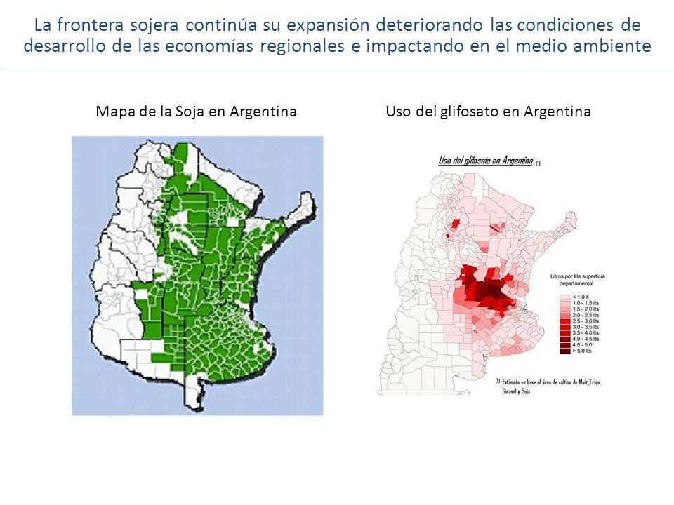 La frontera sojera continúa su expansión deteriorando las condiciones de desarrollo de las economías regionales e impactando en el medio ambiente