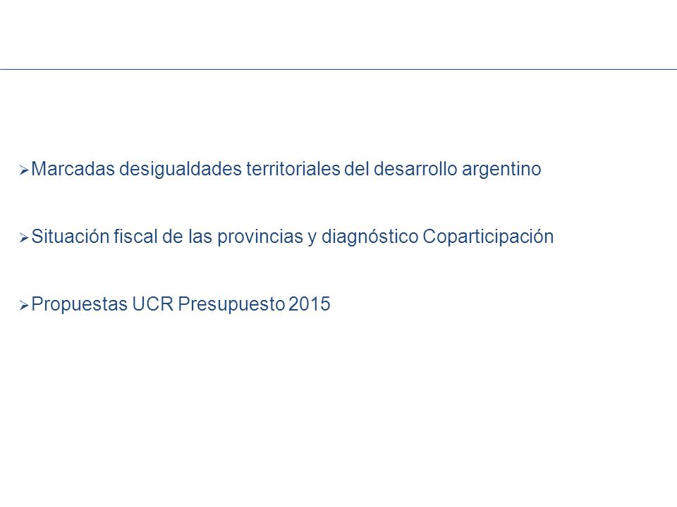 Marcadas desigualdades territoriales del desarrollo argentino