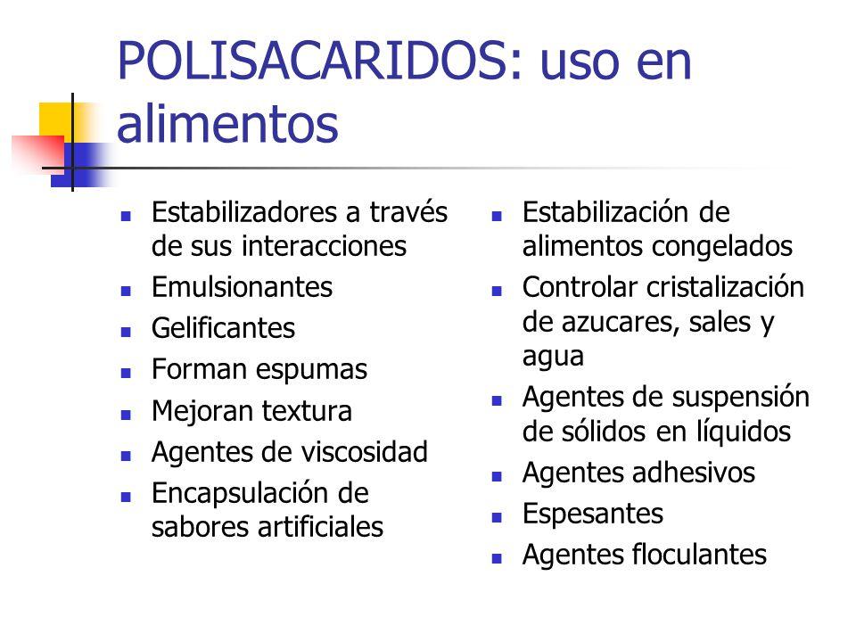 POLISACARIDOS: uso en alimentos
