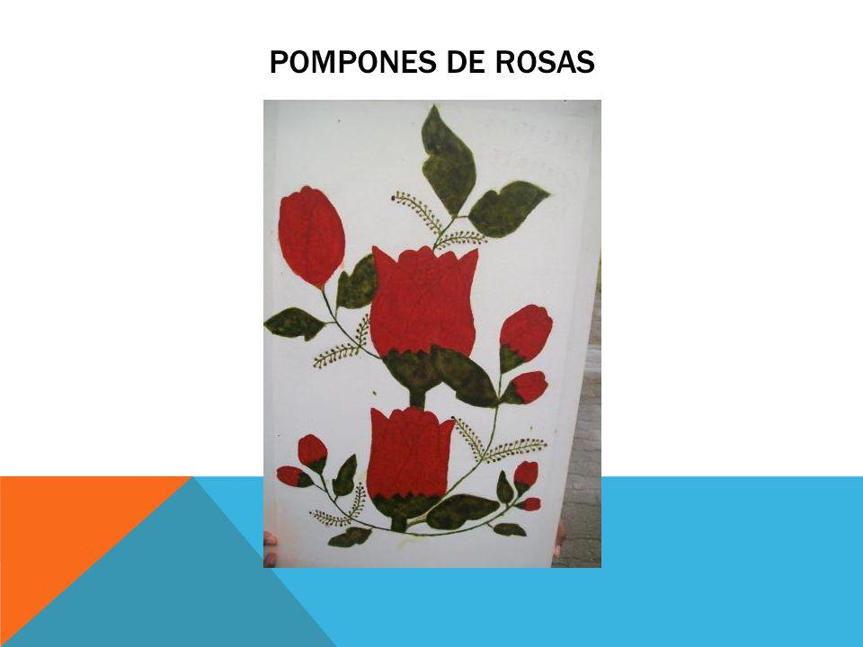 Pompones de rosas