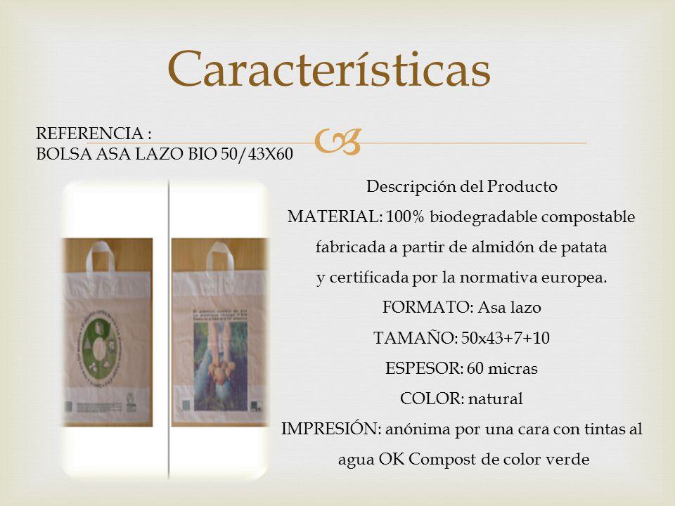 Características REFERENCIA : BOLSA ASA LAZO BIO 50/43X60