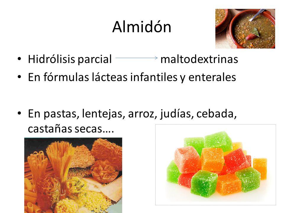 Almidón Hidrólisis parcial maltodextrinas