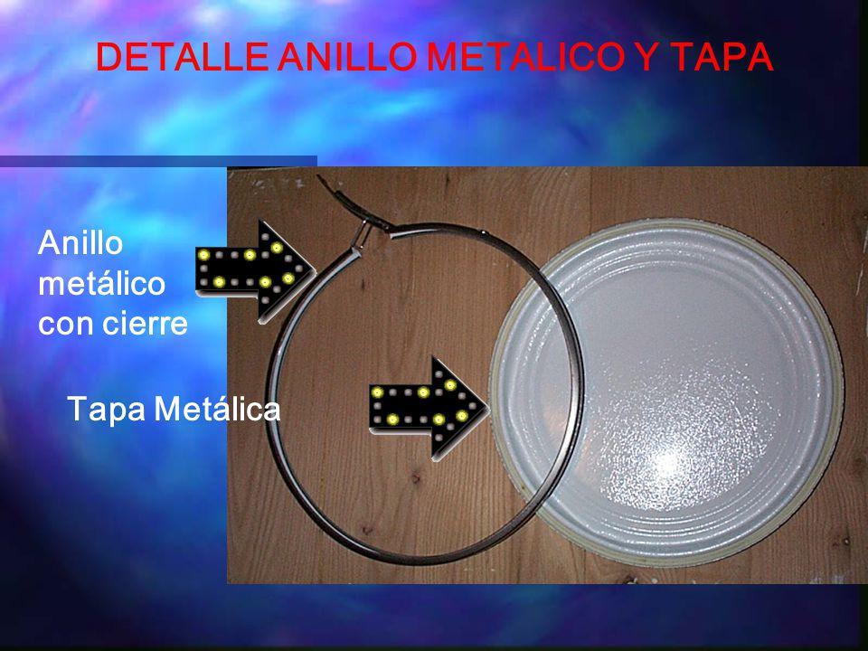 DETALLE ANILLO METALICO Y TAPA