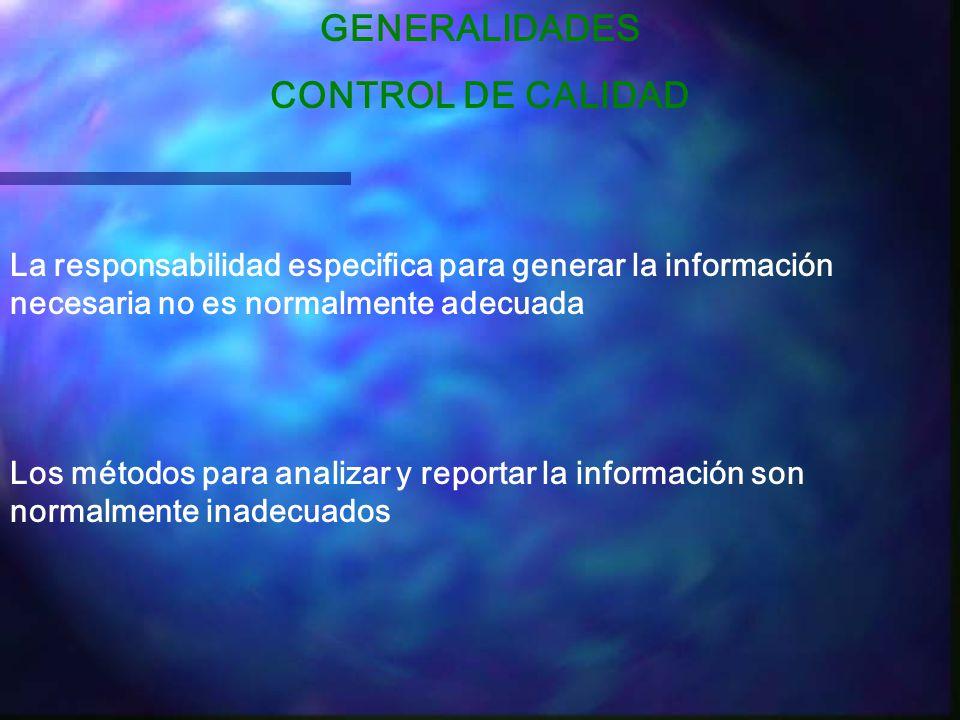 GENERALIDADES CONTROL DE CALIDAD