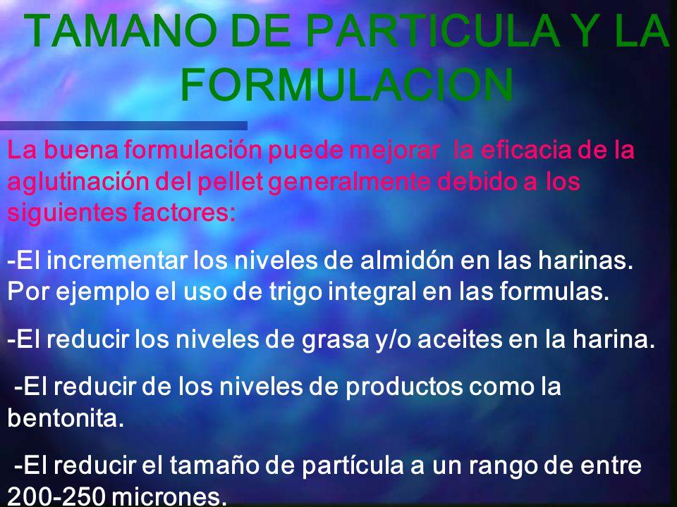 TAMANO DE PARTICULA Y LA FORMULACION