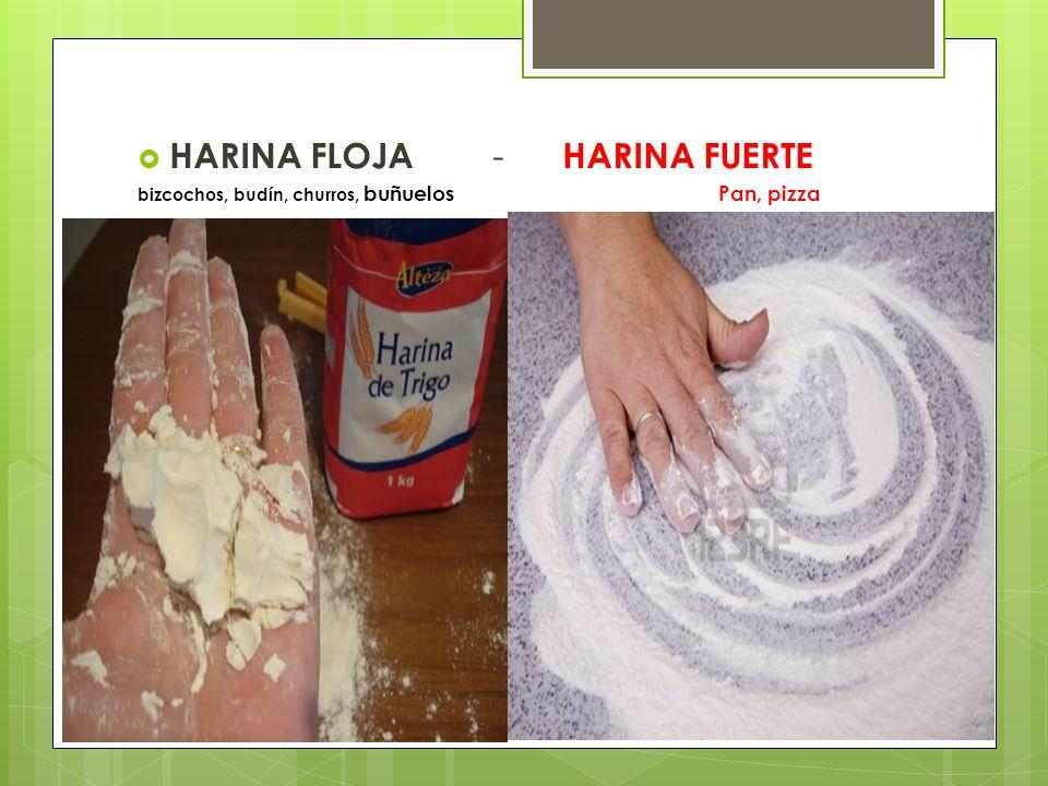 HARINA FLOJA - HARINA FUERTE