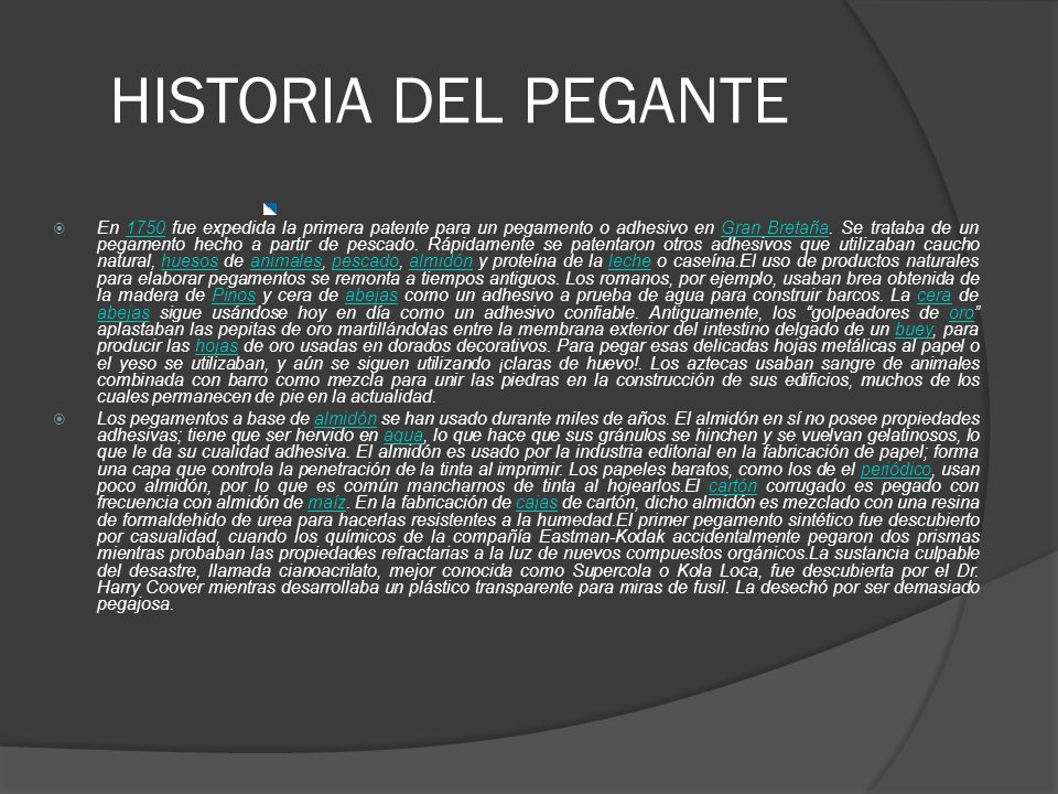 HISTORIA DEL PEGANTE