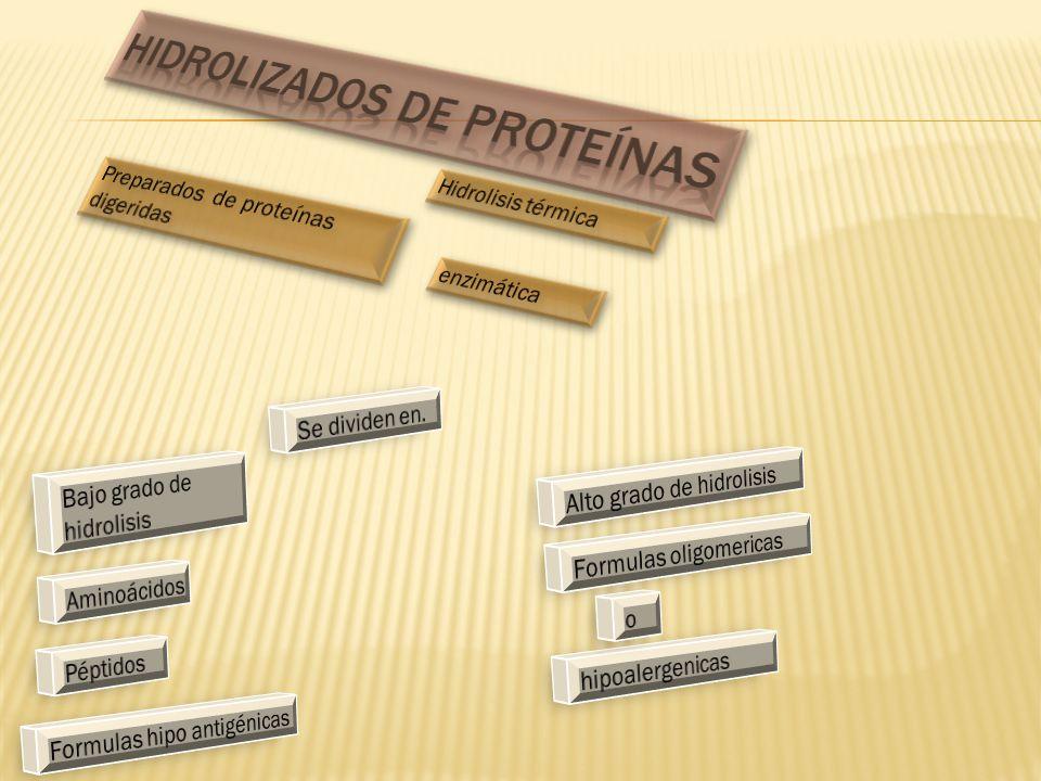 Hidrolizados de proteínas