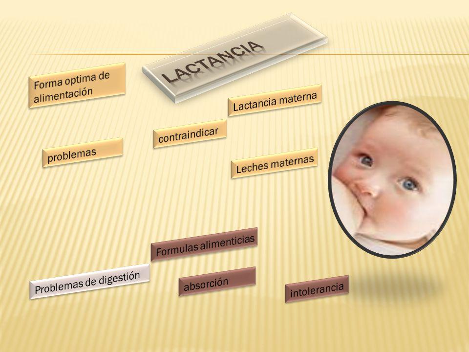 Lactancia Forma optima de alimentación Lactancia materna contraindicar