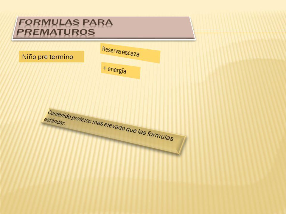 FORMULAS PARA PREMATUROS