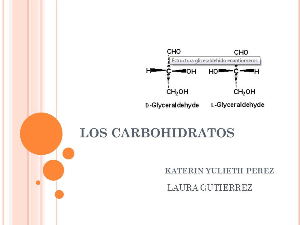 LOS CARBOHIDRATOS KATERIN YULIETH PEREZ LAURA GUTIERREZ