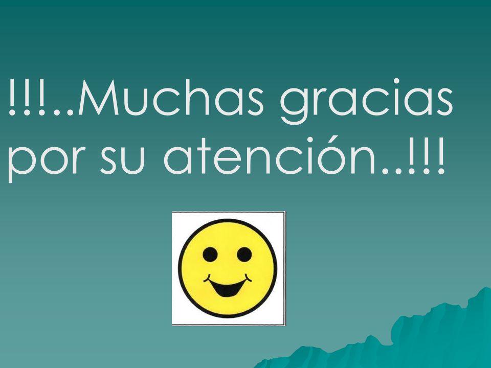 !!!..Muchas gracias por su atención..!!!