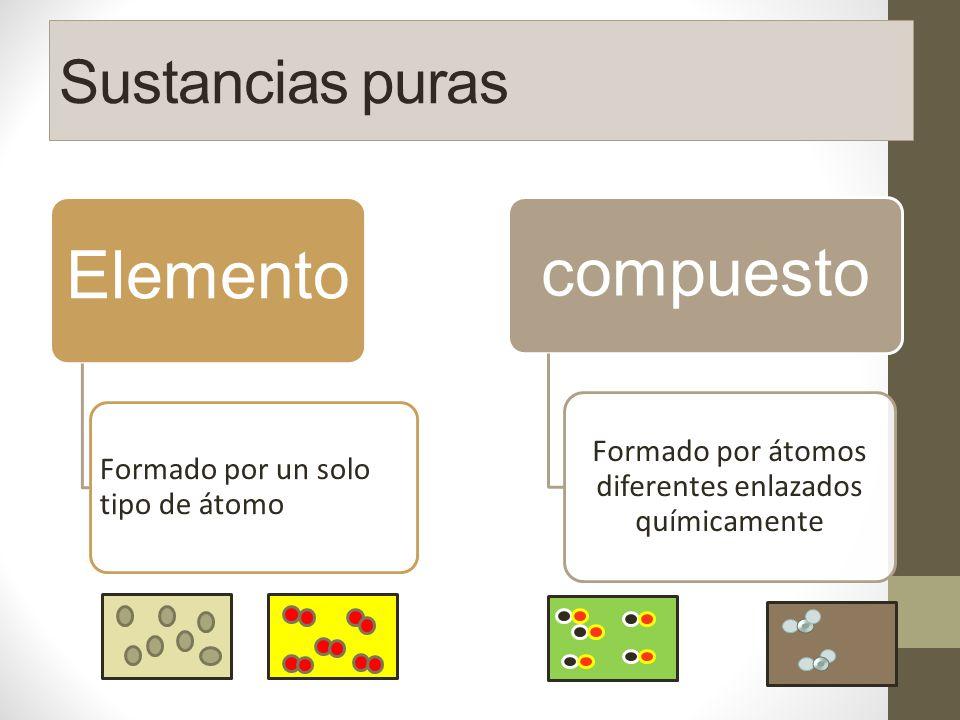 Formado por átomos diferentes enlazados químicamente