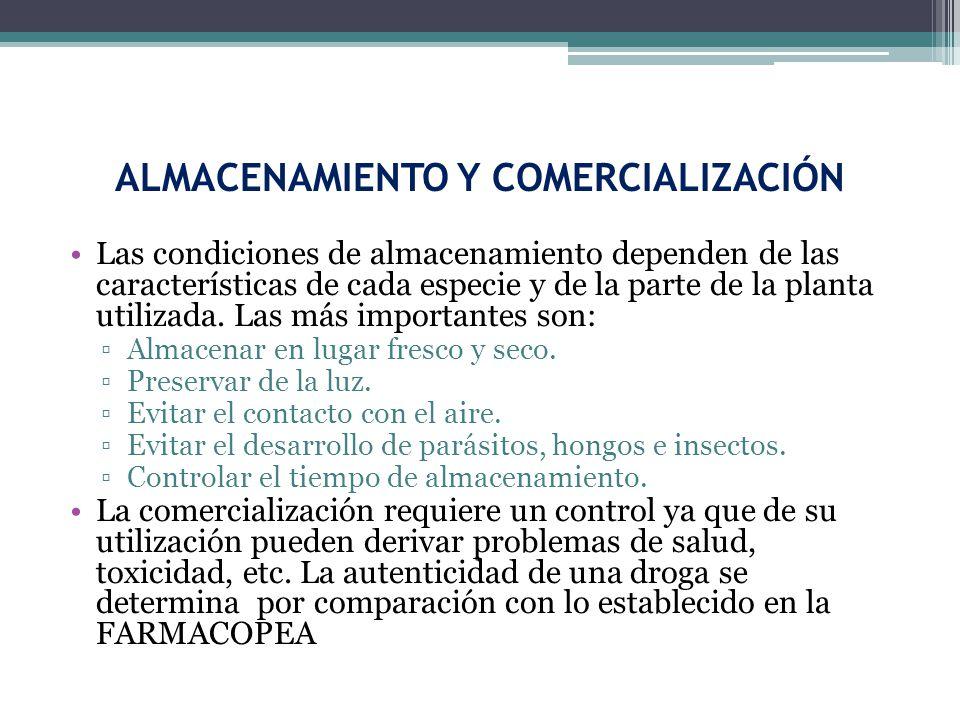 ALMACENAMIENTO Y COMERCIALIZACIÓN