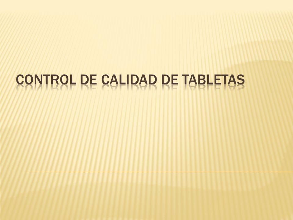 control de calidad de tabletas