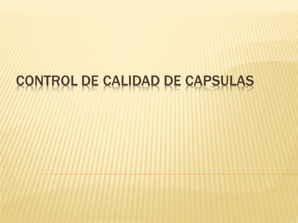 control de calidad de capsulas