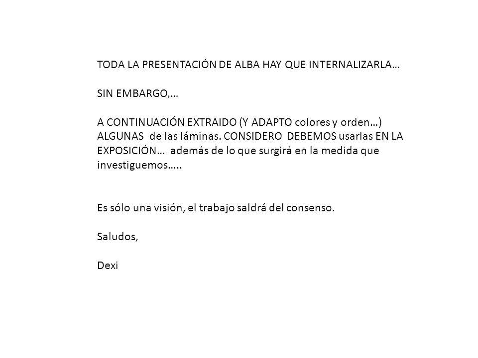 TODA LA PRESENTACIÓN DE ALBA HAY QUE INTERNALIZARLA…