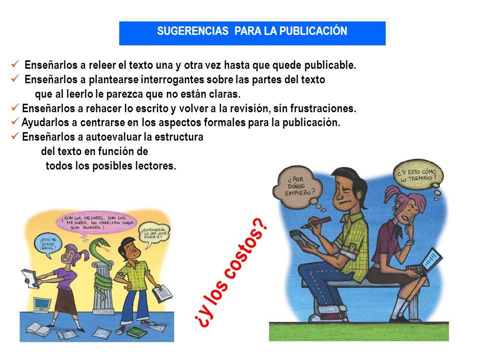 SUGERENCIAS PARA LA PUBLICACIÓN