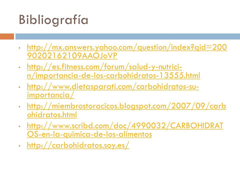 Bibliografía http://mx.answers.yahoo.com/question/index qid=200 90202162109AAOJoVP.