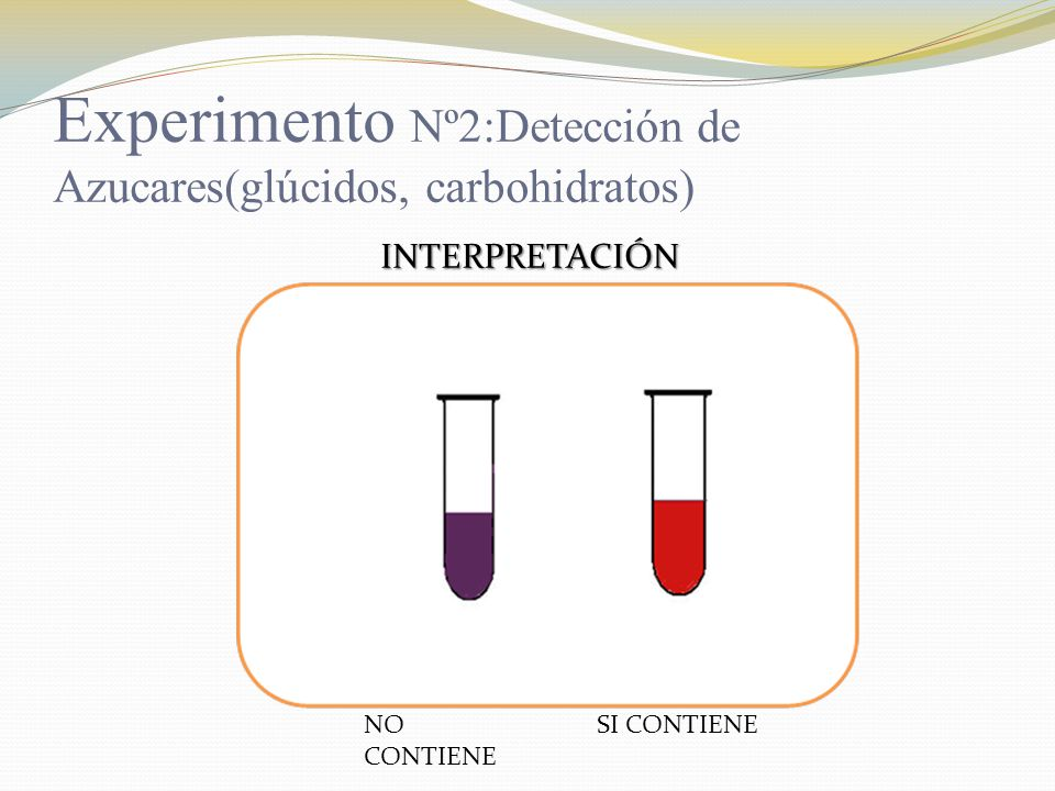 Experimento Nº2:Detección de Azucares(glúcidos, carbohidratos)