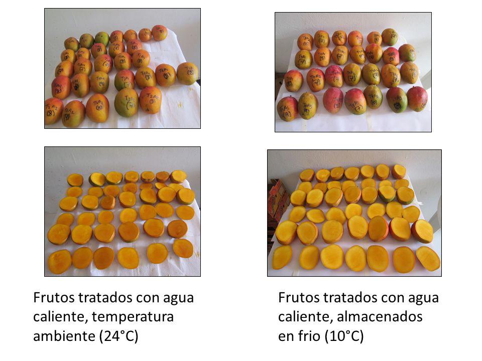 Frutos tratados con agua