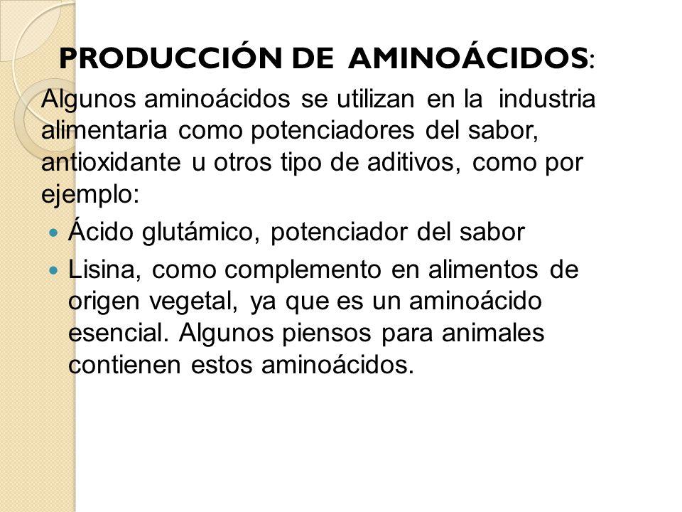 PRODUCCIÓN DE AMINOÁCIDOS: