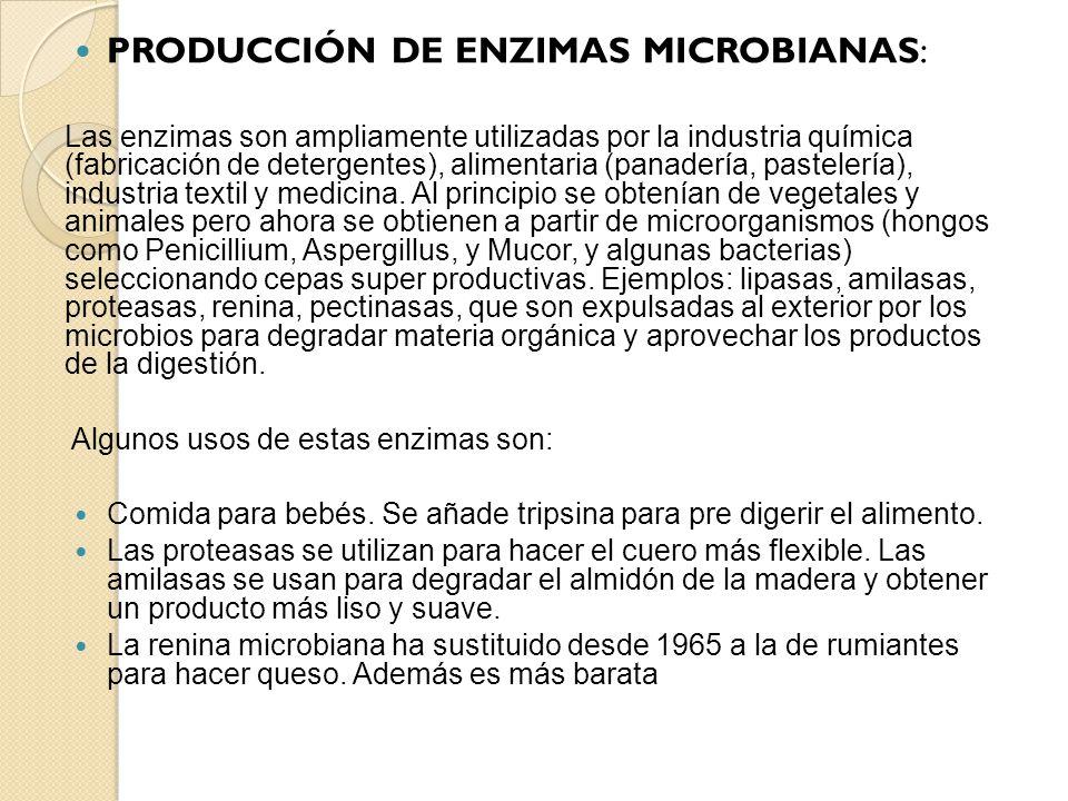 PRODUCCIÓN DE ENZIMAS MICROBIANAS: