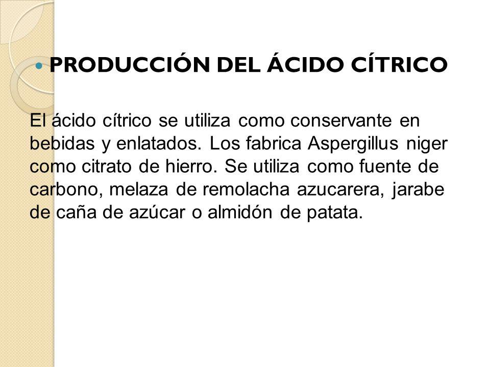 PRODUCCIÓN DEL ÁCIDO CÍTRICO