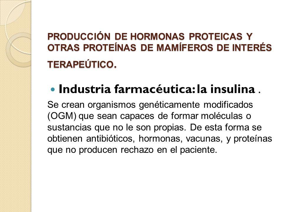 Industria farmacéutica: la insulina .