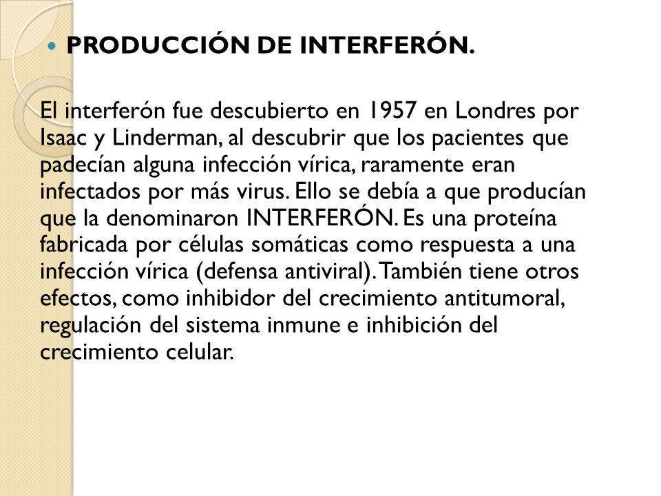 PRODUCCIÓN DE INTERFERÓN.