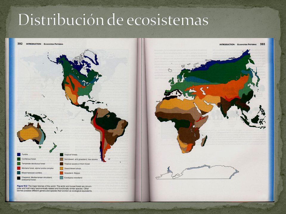 Distribución de ecosistemas