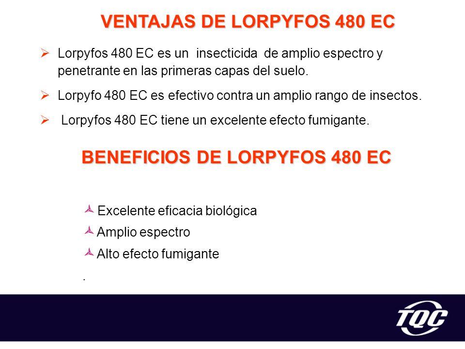 VENTAJAS DE LORPYFOS 480 EC BENEFICIOS DE LORPYFOS 480 EC