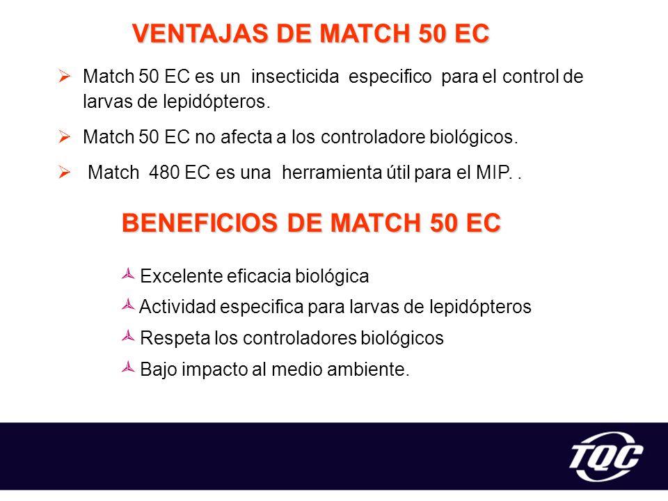 VENTAJAS DE MATCH 50 EC BENEFICIOS DE MATCH 50 EC