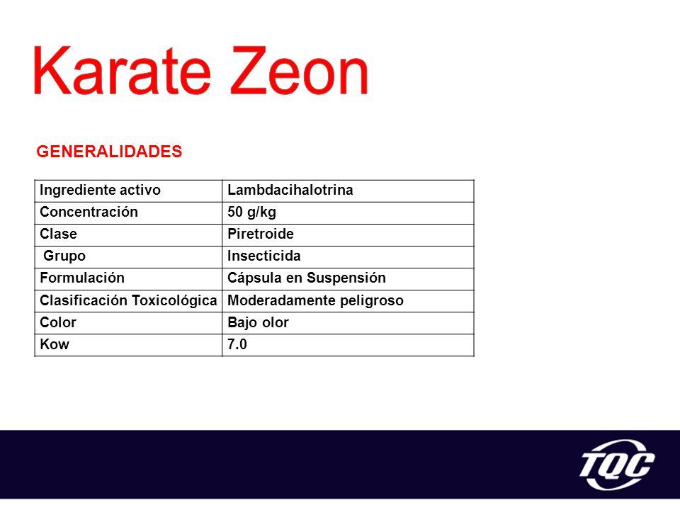 Karate Zeon GENERALIDADES Ingrediente activo Lambdacihalotrina