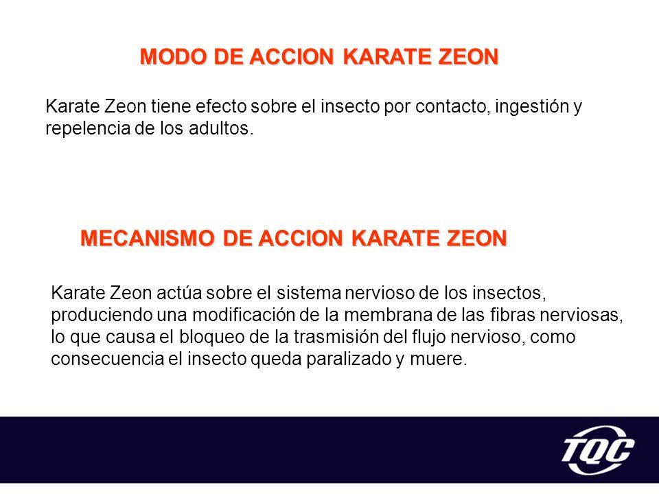 MODO DE ACCION KARATE ZEON MECANISMO DE ACCION KARATE ZEON