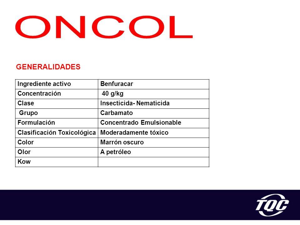 ONCOL GENERALIDADES Ingrediente activo Benfuracar Concentración