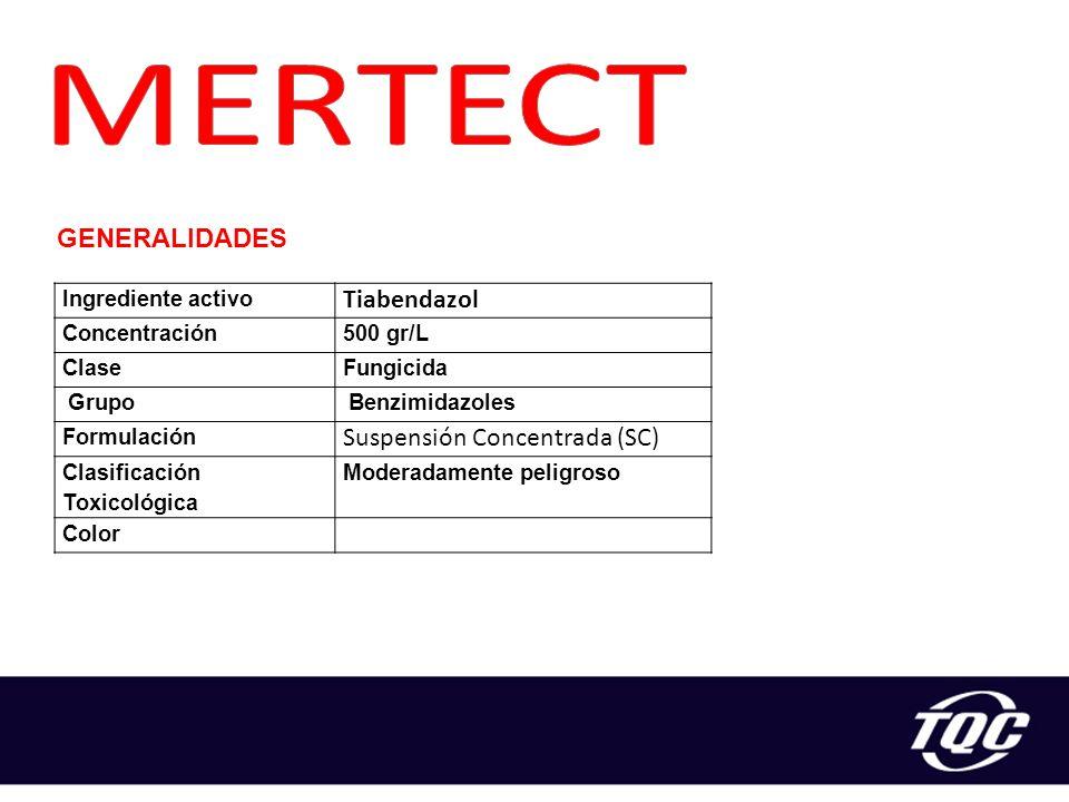 MERTECT Tiabendazol Suspensión Concentrada (SC) GENERALIDADES