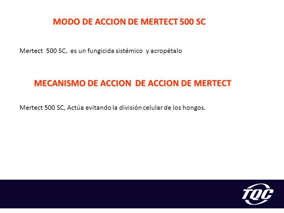 MODO DE ACCION DE MERTECT 500 SC