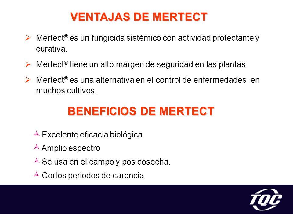 VENTAJAS DE MERTECT BENEFICIOS DE MERTECT
