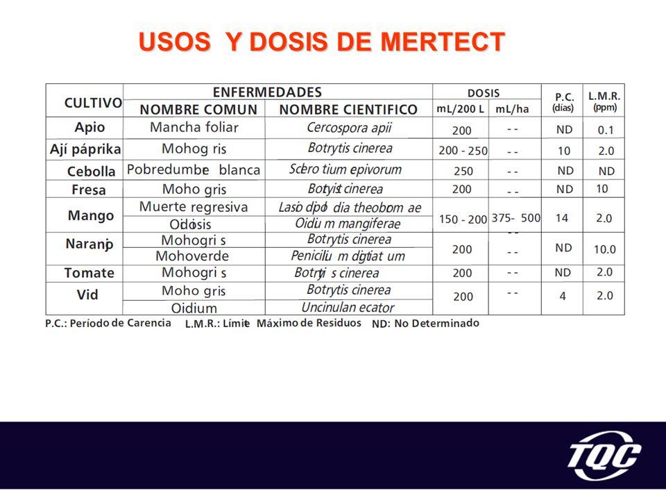 USOS Y DOSIS DE MERTECT